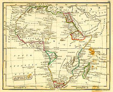 1828 Africa map