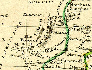 1828 Africa map (detail)