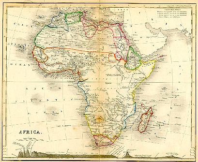 1850 Africa map