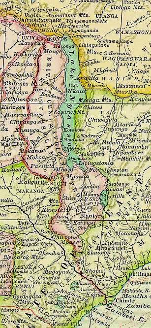 1897 Africa map (detail)
