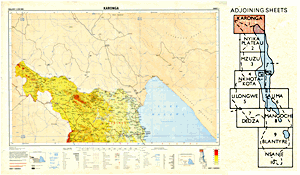 Malawi 1:250,000 map sheet 1 (Karonga)